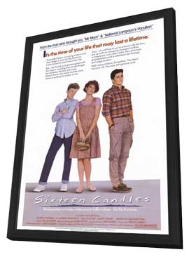 Sixteen Candles - 11 x 17 Movie Poster - Style A - in Deluxe Wood Frame
