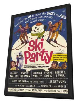 Ski Party - 11 x 17 Movie Poster - Style A - in Deluxe Wood Frame