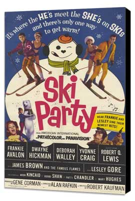 Ski Party - 11 x 17 Movie Poster - Style A - Museum Wrapped Canvas