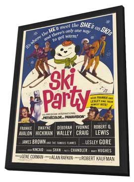 Ski Party - 27 x 40 Movie Poster - Style A - in Deluxe Wood Frame