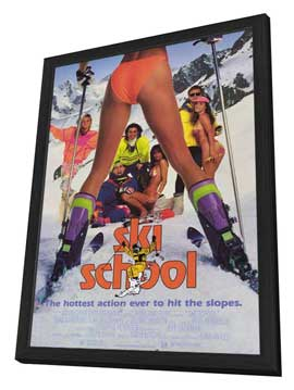 Ski School - 11 x 17 Movie Poster - Style A - in Deluxe Wood Frame