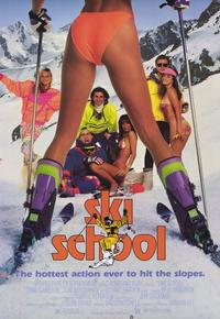 Ski School - 11 x 17 Movie Poster - Style A - Museum Wrapped Canvas