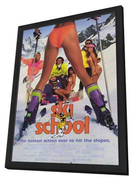 Ski School - 27 x 40 Movie Poster - Style A - in Deluxe Wood Frame