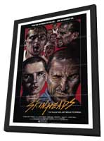 Skinheads - 11 x 17 Movie Poster - Style A - in Deluxe Wood Frame