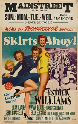 Skirts Ahoy - 11 x 17 Movie Poster - Style A
