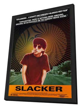 Slacker - 27 x 40 Movie Poster - Style A - in Deluxe Wood Frame