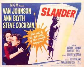 Slander - 11 x 14 Movie Poster - Style A