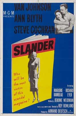 Slander - 11 x 17 Movie Poster - Style A