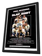 Slap Shot - 11 x 17 Movie Poster - Style A - in Deluxe Wood Frame