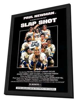 Slap Shot - 27 x 40 Movie Poster - Style A - in Deluxe Wood Frame