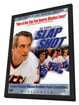 Slap Shot - 27 x 40 Movie Poster - Style C - in Deluxe Wood Frame