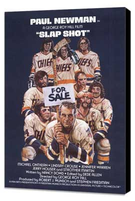 Slap Shot - 11 x 17 Movie Poster - Style D - Museum Wrapped Canvas