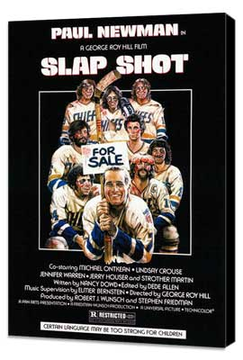 Slap Shot - 27 x 40 Movie Poster - Style A - Museum Wrapped Canvas