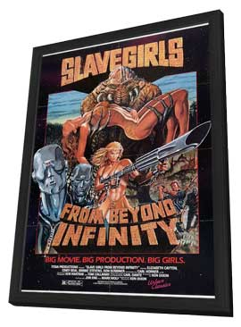 Slave Girls from Beyond Infinity - 11 x 17 Movie Poster - Style A - in Deluxe Wood Frame
