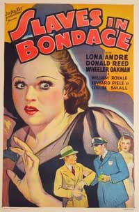 Slaves in Bondage - 11 x 17 Movie Poster - Style B