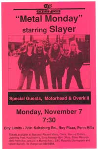 Slayer - Music Poster - 11 x 17 - Style A