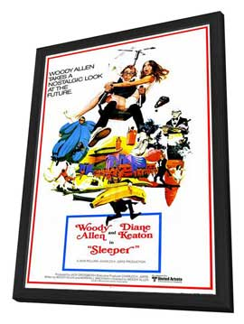 Sleeper - 11 x 17 Movie Poster - Style C - in Deluxe Wood Frame