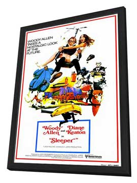 Sleeper - 27 x 40 Movie Poster - Style A - in Deluxe Wood Frame