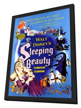 Sleeping Beauty - 11 x 17 Movie Poster - Style B - in Deluxe Wood Frame