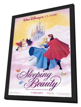 Sleeping Beauty - 27 x 40 Movie Poster - Style E - in Deluxe Wood Frame