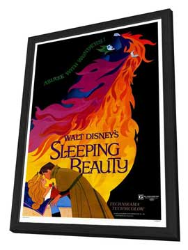 Sleeping Beauty - 27 x 40 Movie Poster - Style A - in Deluxe Wood Frame