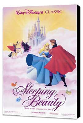 Sleeping Beauty - 11 x 17 Movie Poster - Style J - Museum Wrapped Canvas