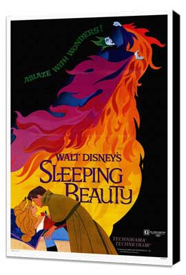 Sleeping Beauty - 27 x 40 Movie Poster - Style A - Museum Wrapped Canvas