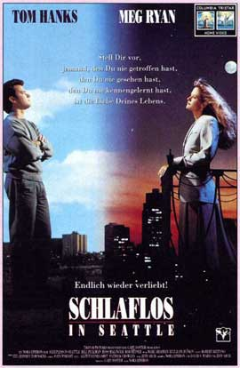 Sleepless in Seattle - 27 x 40 Movie Poster - German Style A