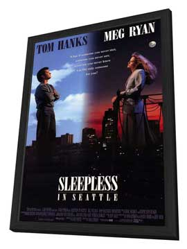 Sleepless in Seattle - 11 x 17 Movie Poster - Style A - in Deluxe Wood Frame