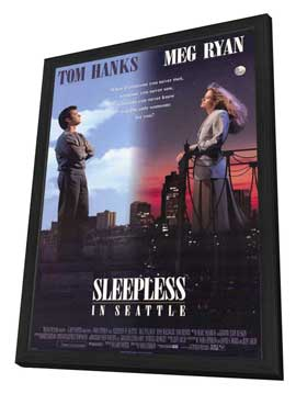 Sleepless in Seattle - 27 x 40 Movie Poster - Style A - in Deluxe Wood Frame