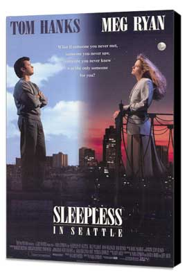 Sleepless in Seattle - 27 x 40 Movie Poster - Style A - Museum Wrapped Canvas