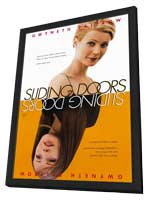 Sliding Doors - 11 x 17 Movie Poster - Style A - in Deluxe Wood Frame