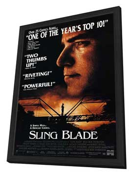 Sling Blade - 11 x 17 Movie Poster - Style C - in Deluxe Wood Frame