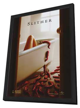 Slither - 11 x 17 Movie Poster - Style A - in Deluxe Wood Frame