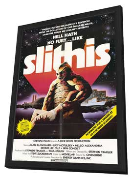 Slithis - 11 x 17 Movie Poster - Style A - in Deluxe Wood Frame