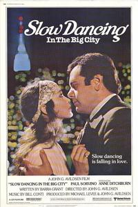 Slow Dancing In the Big City - 27 x 40 Movie Poster - Style B