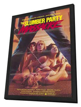 Slumber Party Massacre - 11 x 17 Movie Poster - Style A - in Deluxe Wood Frame