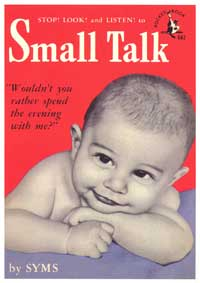 Small Talk - 11 x 17 Retro Book Cover Poster