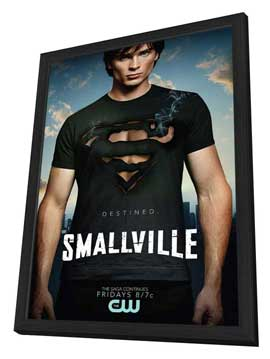 Smallville (TV) - 11 x 17 TV Poster - Style M - in Deluxe Wood Frame