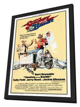 Smokey and the Bandit - 27 x 40 Movie Poster - Style A - in Deluxe Wood Frame