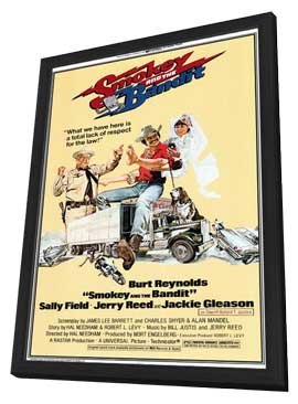 Smokey and the Bandit - 11 x 17 Movie Poster - Style A - in Deluxe Wood Frame