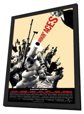Smokin' Aces - 11 x 17 Movie Poster - Style G - in Deluxe Wood Frame