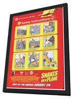 Snakes on a Plane - 11 x 17 Movie Poster - Style J - in Deluxe Wood Frame
