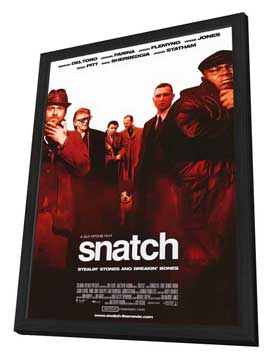 Snatch - 11 x 17 Movie Poster - Style B - in Deluxe Wood Frame