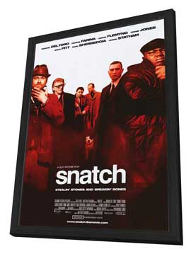 Snatch - 27 x 40 Movie Poster - Style B - in Deluxe Wood Frame