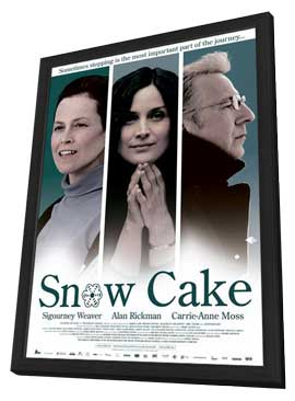 Snow Cake - 11 x 17 Movie Poster - Dutch Style A - in Deluxe Wood Frame