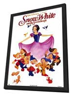 Snow White and the Seven Dwarfs - 11 x 17 Movie Poster - Style A - in Deluxe Wood Frame