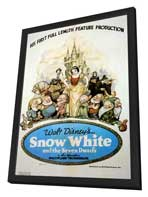 Snow White and the Seven Dwarfs - 11 x 17 Movie Poster - Style H - in Deluxe Wood Frame