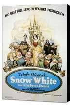 Snow White and the Seven Dwarfs - 11 x 17 Movie Poster - Style H - Museum Wrapped Canvas