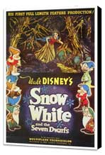 Snow White and the Seven Dwarfs - 27 x 40 Movie Poster - Style A - Museum Wrapped Canvas